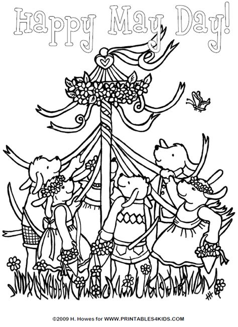 may day coloring pages az coloring pages