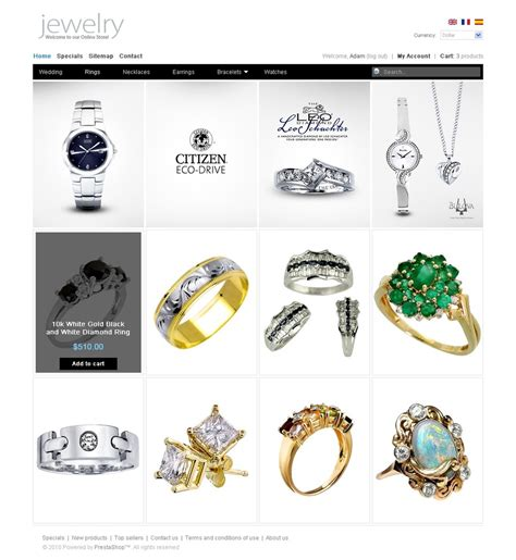 drupal themes jewelry clean style jewelry prestashop theme 31021