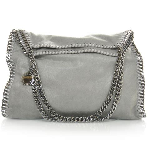 Stelan Grey stella mccartney leather falabella tote light grey 27197