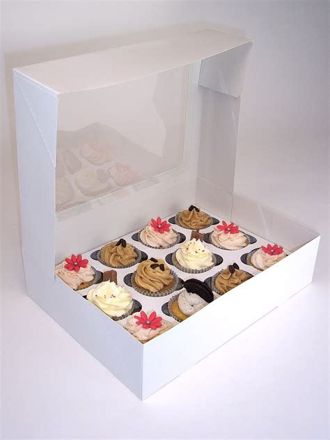 cupcake boxes with window cupcake boxes with window and insert