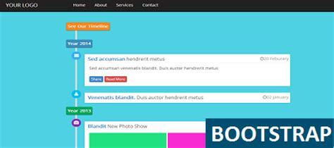 bootstrap timeline template website templates