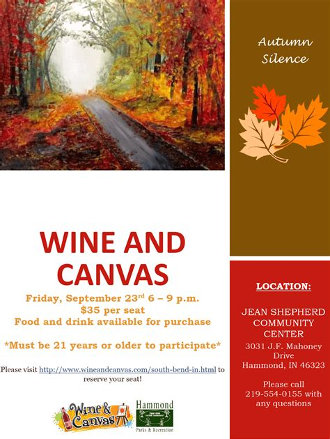 Wine And Canvas Calendar Wine Canvas Returns To Hammond In September City Of