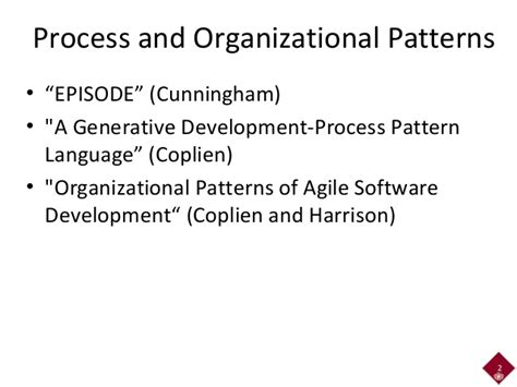 Episodes Pattern Language | agile2014 network analysis for software patterns