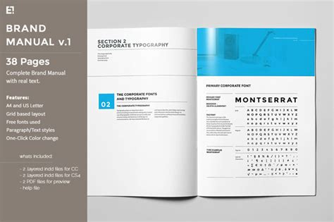 Brand Manual Template Style Guide Template Indesign
