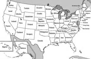 united states map with labeled states and capitals map of 50 states with capitals
