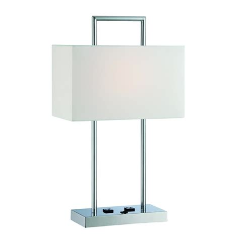 table ls with rectangular shades lite source lighting chrome table l with rectangle shade ls 22473 destination lighting