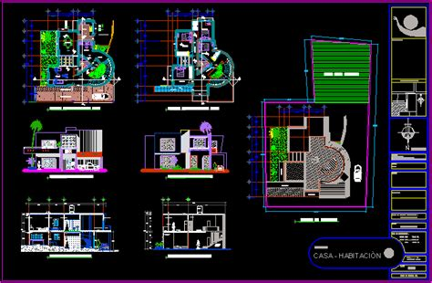 house   dwg section  autocad designs cad