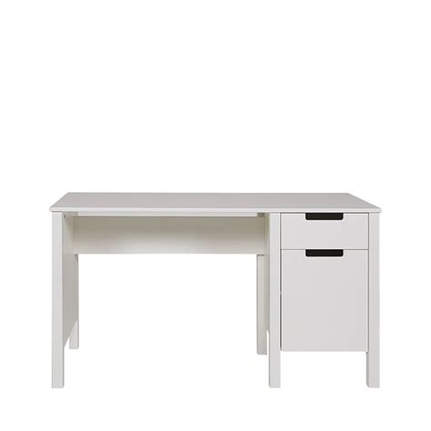 bureau pin blanc table de bureau en pin joop par drawer
