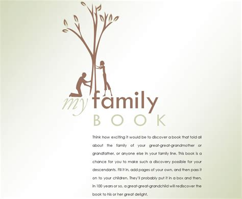 family genealogy book template family history book family history book template