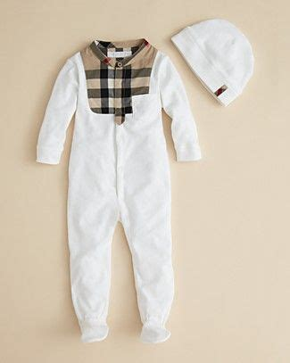 Pw Baby Boy Burberry Burberry Infant Boys Leslie Bodysuit Hat Sizes 0 12