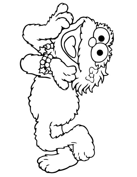 sesame street characters coloring pages coloring home