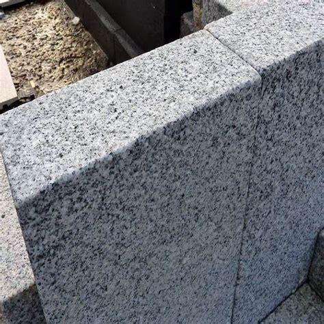 stein palisaden gartengestaltung mit granitsteinen hms baum