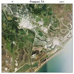 aerial photography map of freeport tx