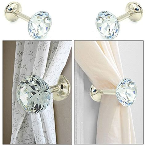 curtain tie back clips sumnacon 174 2 pieces crystal curtain hold backs window