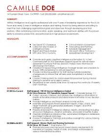 Navy Intelligence Specialist Sle Resume by Professional Intelligence Professional Templates To Showcase Your Talent Myperfectresume