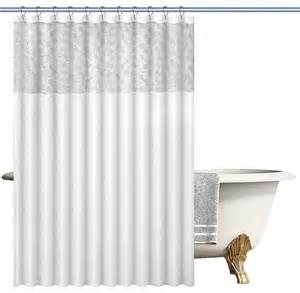 Contemporary Shower Curtains Faux Silk Woven Fabric Shower Curtain With Lace Contemporary Shower Curtains By Bnd