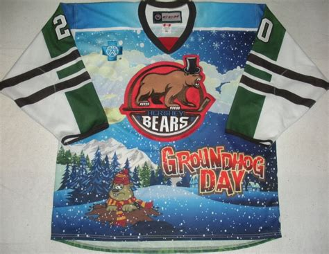 groundhog day auction liam o brien hershey bears groundhog day autographed