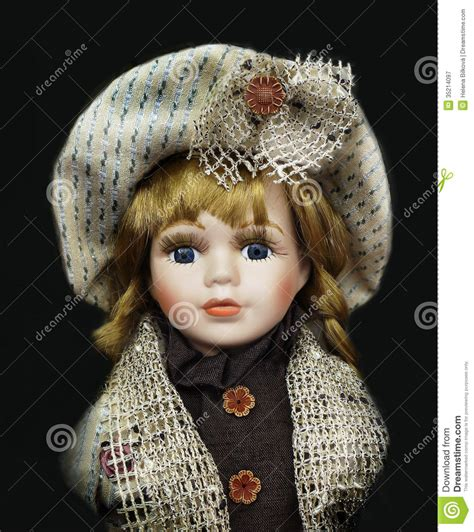 antique 3 faced porcelain doll vintage doll toys stock image image of curly background