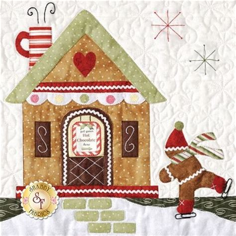 gingerbread village bom block of the month quilt company shabby fabrics huisje patchwork