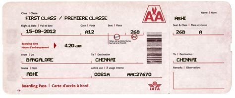 airline ticket template images