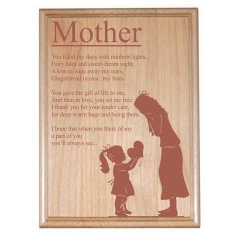 poem for mom engraved plaque