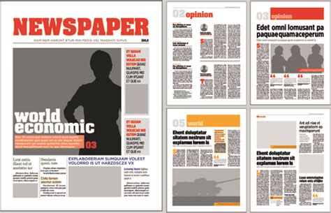 newspaper layout design download typesetting newspaper vector templates free vector in