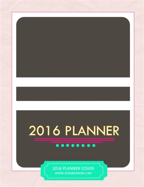 Printable Planner Cover 2016 | your free 2016 planner chic and stylish