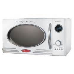 Nostalgia electrics rmo 400wht retro series 0 9 cubic foot microwave