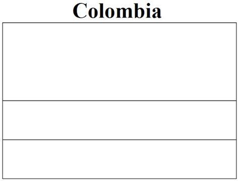 Columbia Flag Coloring Page geography colombia flag coloring page