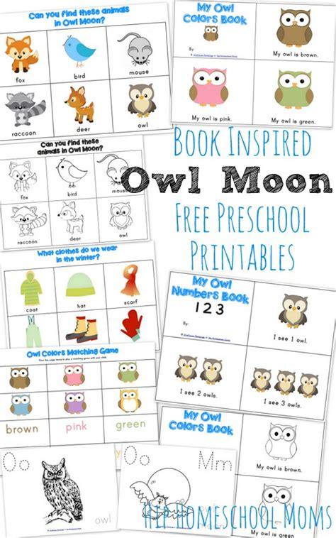 Printable Owl Moon   owl moon book inspired printables for preschool and