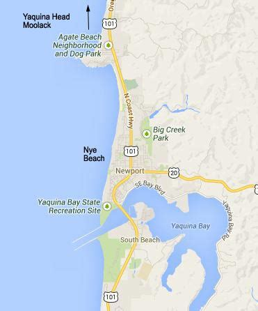 map of oregon newport newport oregon nye tour oregon coast