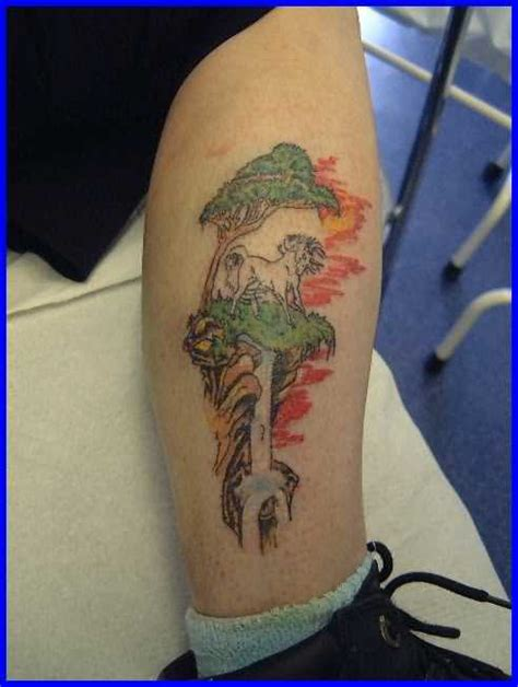 pale horse tattoo white on leg