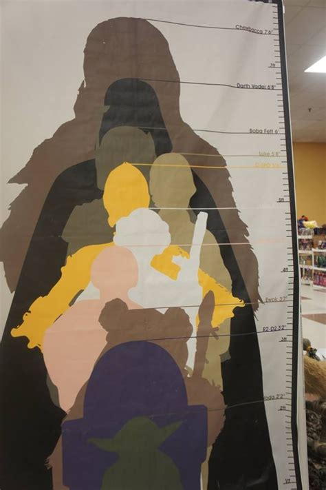 printable star wars growth chart cool growth chart but who is between leia and the ewok