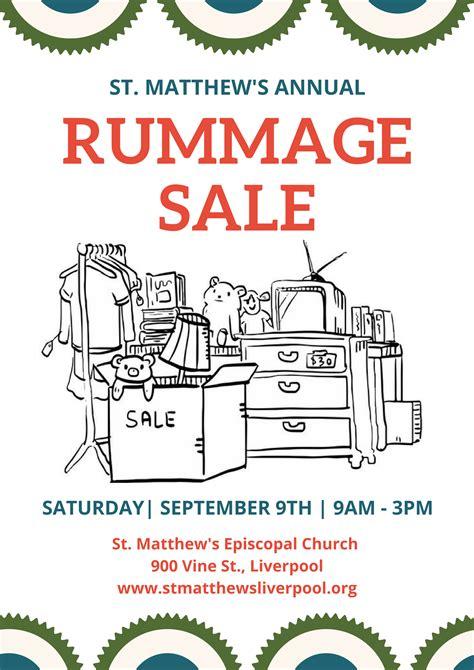 Rummage Sale Flyer