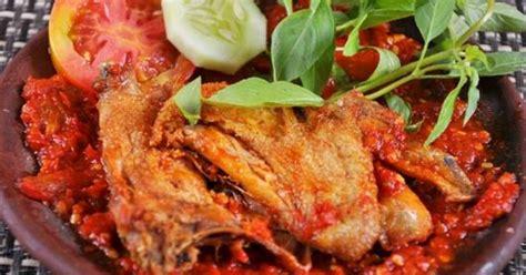 resep ayam penyet surabaya  sambal super pedas