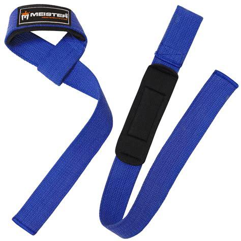 Stap Blue blue neoprene padded weight lifting straps wrist bar wraps meister no slip pair ebay