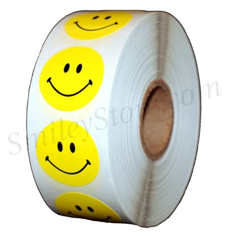 Smiley Sticker Store by Smileystore Smiley Face Stickers Yellow 1 1000 Roll