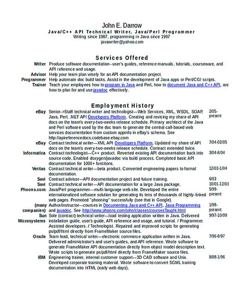 Technical Writer Resume by Teachers Resume Format