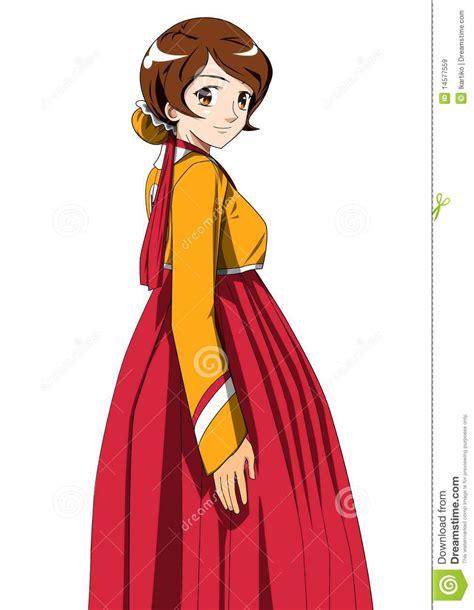 Hanbok Korea Original pretty in hanbok royalty free stock images image 14577559