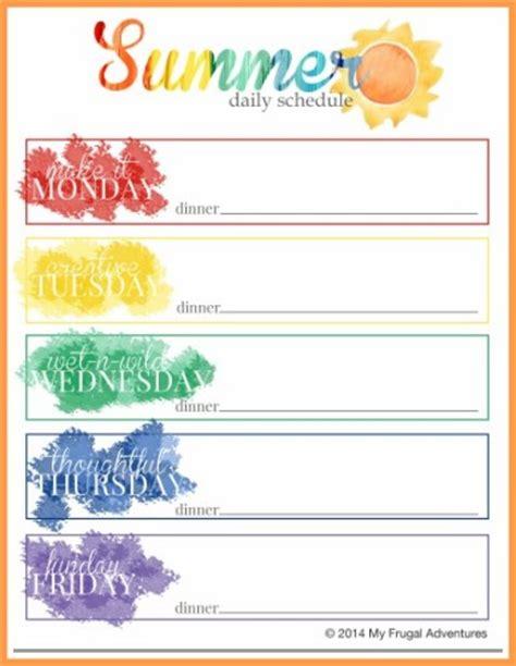 Free Summer Schedule Printable 24 7 Moms Free Summer C Schedule Template