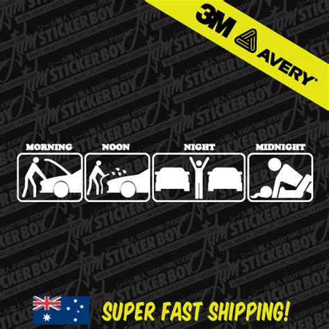 Sticker Jdm By Jdm Garage Shop daily activities jdm sticker decal car drift turbo