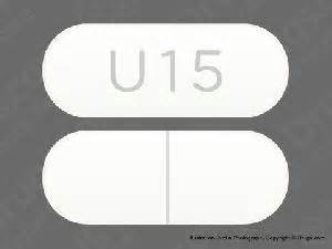 U15 white and elliptical oval pill identification wizard drugs