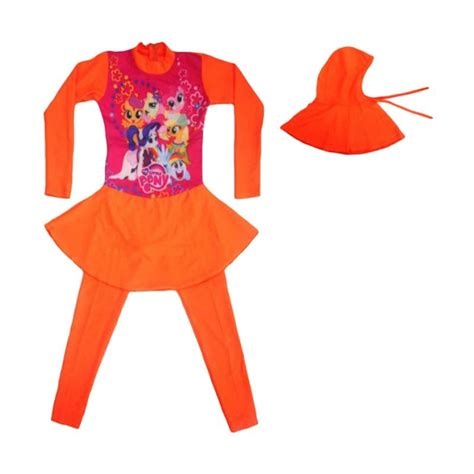 Baju Anak Lnice Orange jual motif pony baju renang abg muslim orange harga kualitas terjamin blibli