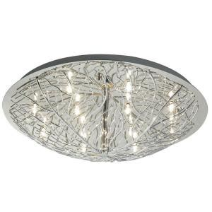 eglo cromer 8 light ceiling chrome flush mount 91085a