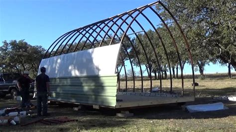 build process      arched cabin   skid youtube