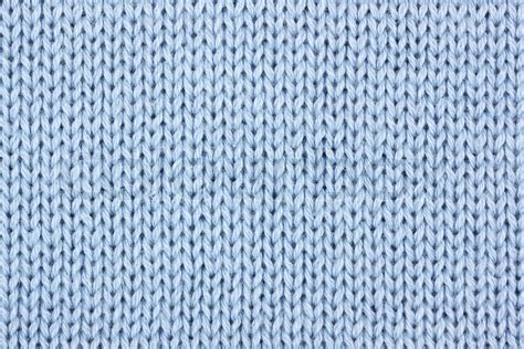knitting background blue cotton knitting material as background stock photo
