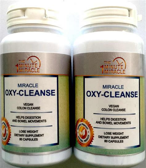 Vegetarian Cleanse Detox Diet by Miracle Oxy Cleanse Vegan Colon Cleanser 2 Bottles
