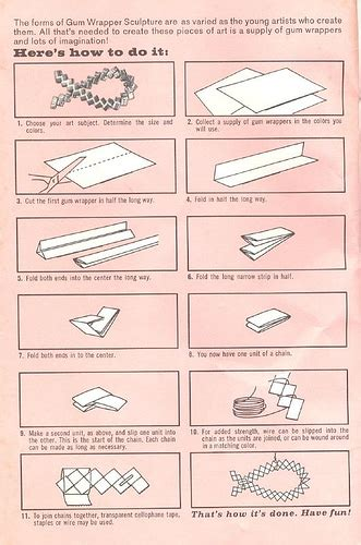 How To Make Paper Gum - tafa the textile and fiber list candywrapper