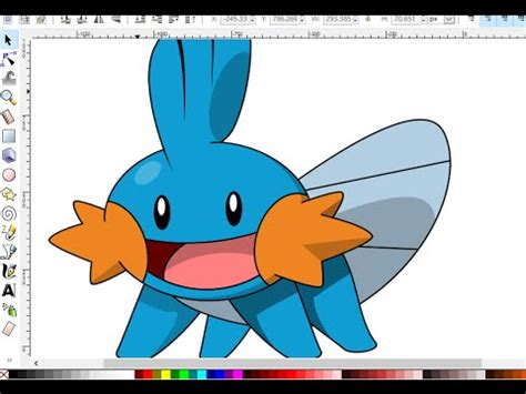 inkscape tutorial cartoon inkscape cartoon tutorial how to draw mudkip from
