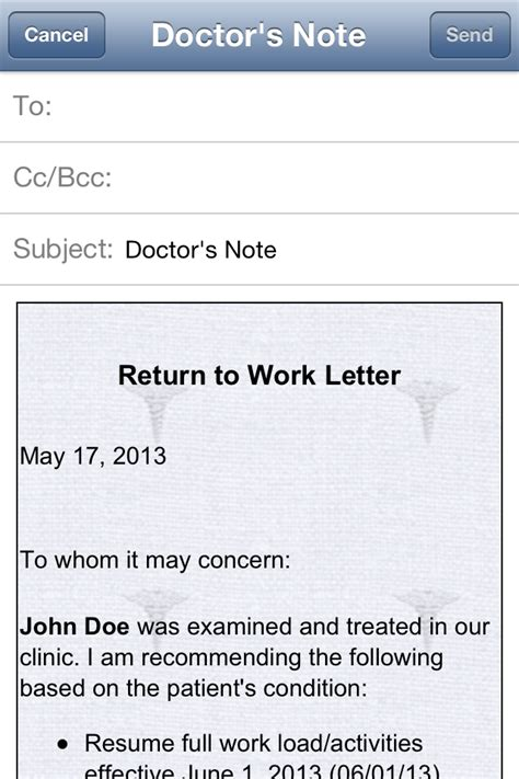 return to work note search results for return to work letter from doctor